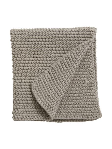 Presine a maglia in cotone bio Merga 6 pz, 100% realizzato in cotone biologico certificato GOTS, Grigio, Larg. 27 x Lung. 27 cm