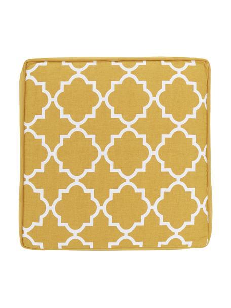 Cuscino sedia alto giallo/bianco Lana, Rivestimento: 100% cotone, Giallo, Larg. 40 x Lung. 40 cm