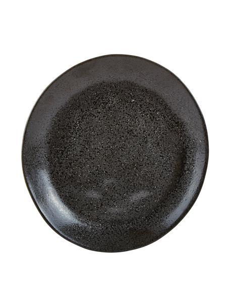 Talerz śniadaniowy z kamionki Heban, 6 szt., Kamionka, Antracytowy, Ø 20 x W 3 cm