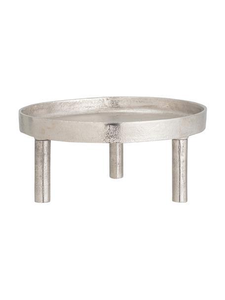 Kerzenteller Rone, Aluminium, Silberfarben, Ø 30 x H 13 cm