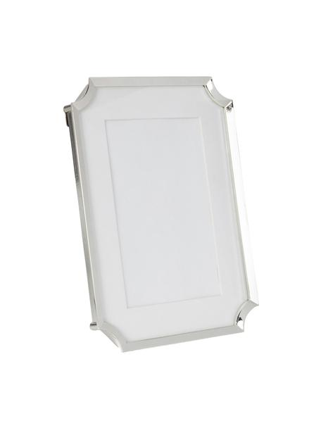 Ramka na zdjęcia Austin, Metal, szkło, Odcienie srebrnego, biały, S 10 x W 15 cm