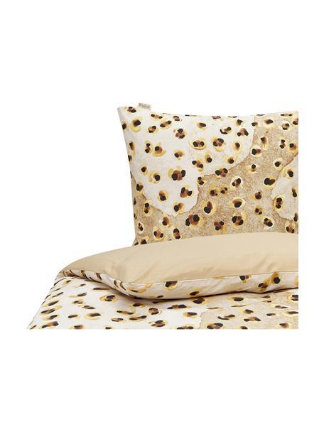 Baumwoll-Bettwäsche Wild Animal, Webart: Renforcé Renforcé besteht, Beige- und Brauntöne, 135 x 200 cm + 1 Kissen 80 x 80 cm