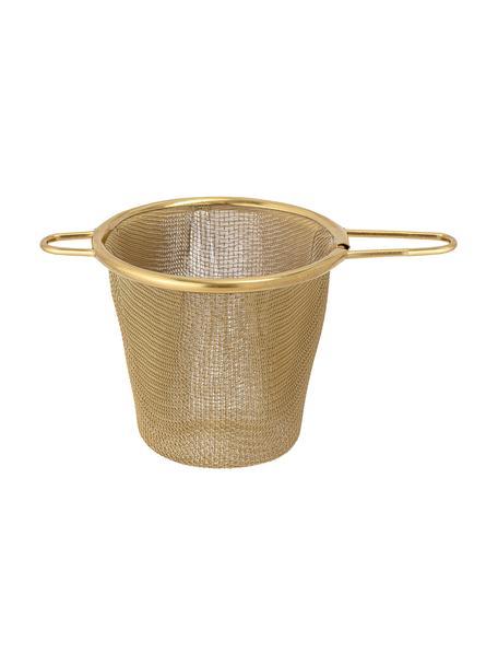 Colino da tè dorato Kronos, Acciaio inossidabile rivestito, Ottonato, Larg. 14 x Alt. 7 cm