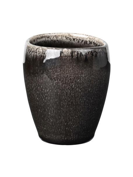 Handgemaakte espressokopje Nordic Coal van keramiek, 6 stuks, Keramiek, Bruin, Ø 7 x H 8 cm