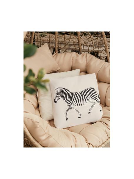 Federa con motivo a zebra Marty, set di 2, 100% cotone, Beige, Larg. 40 cm x Lung. 40 cm