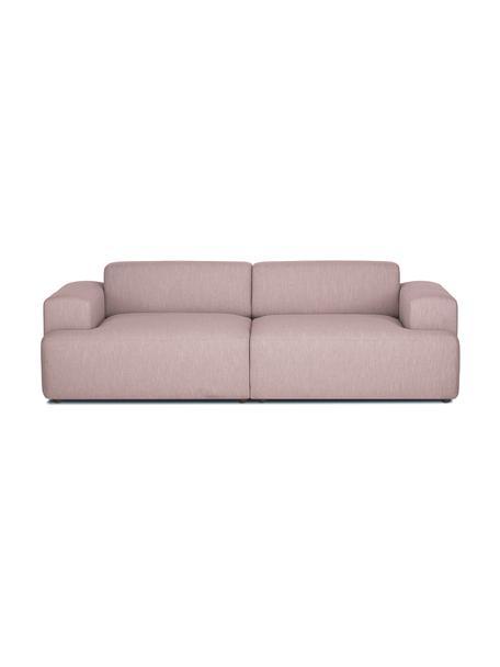 Sofá Melva (3plazas), Tapizado: 100%poliéster Alta resis, Estructura: madera de pino maciza, ce, Patas: plástico, Tejido rosa, An 238 x F 101 cm