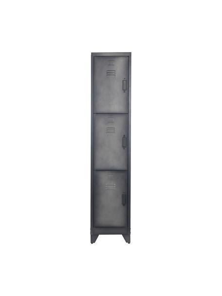 Szafka z metalu Cas, Metal powlekany, Ciemny szary, S 38 x W 180 cm