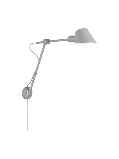 Große Wandleuchte Stay mit Stecker, Lampenschirm: Metall, beschichtet, Grau, 72 x 55 cm