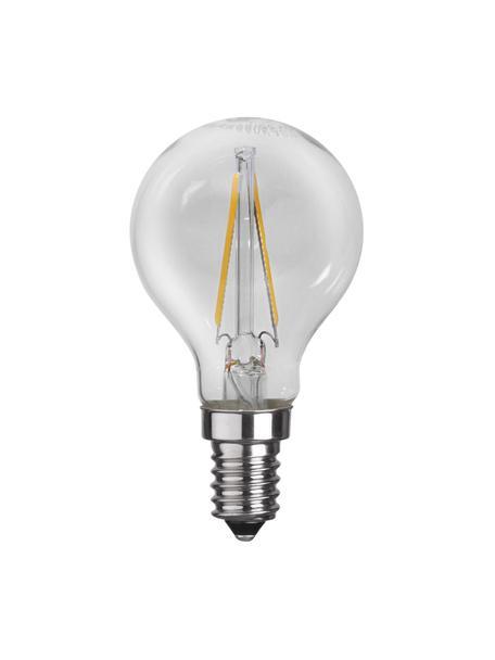E14 Leuchtmittel, 2W, warmweiß, 1 Stück, Leuchtmittelschirm: Glas, Leuchtmittelfassung: Aluminium, Transparent, Ø 5 x H 8 cm