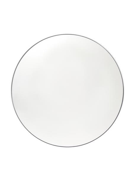 Specchio rotondo da parete con cornice bianca Ivy, Cornice: metallo, verniciato a pol, Retro: pannelli di fibra a media, Superficie dello specchio: lastra di vetro, Bianco, Ø 55 x Prof. 3 cm