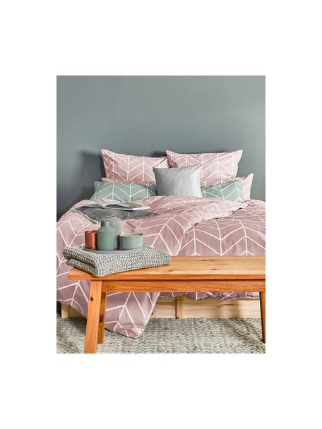 Poszewka na poduszkę z bawełny Mirja, 2 szt., Brudny różowy, kremowobiały, S 40 x D 80 cm