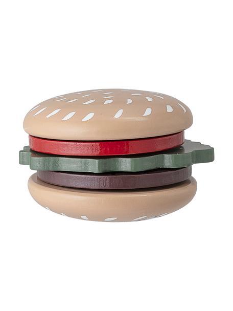 Set de juguetes Hamburger, Madera de loto, tablero de fibras de densidad media (MDF), nylon, Multicolor, Ø 7 cm x Al 5 cm