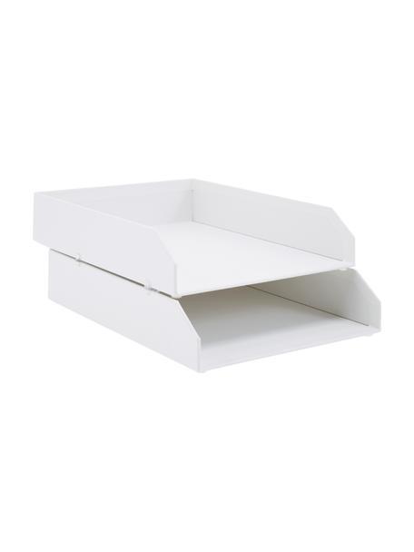 Tacka na dokumenty Hakan, 2 szt., Tektura laminowana, Biały, S 23 x G 31 cm