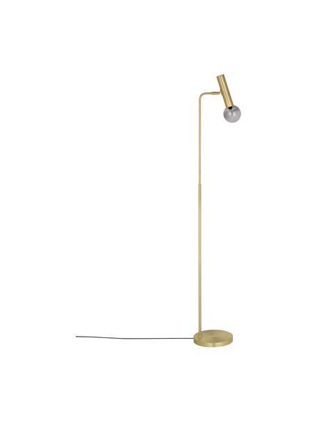 Lampada da lettura con paralume in vetro Wilson, Paralume: vetro, metallo, Base della lampada: metallo ottonato, Ottone, Larg. 28 x Alt. 151 cm