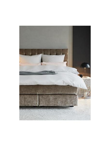 Parure copripiumino in raso di cotone Comfort, Bianco, 155 x 200 cm