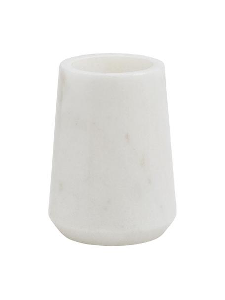Marmor-Zahnputzbecher Lux, Marmor, Weiß, Ø 9 x H 11 cm