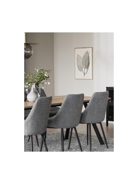 Sillas tapizadas Sierra, 2uds., Tapizado: 100%poliéster, Patas: metal con pintura en polv, Tejido gris, An 49 x F 55 cm