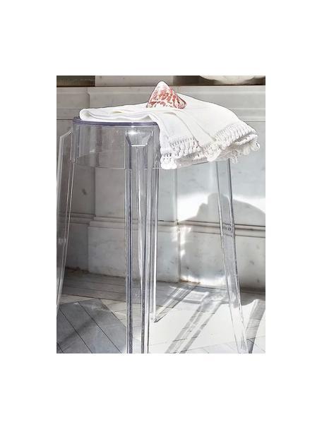 Taburete Ghost, Policarbonato, Transparente, Ø 39 x Al 46 cm