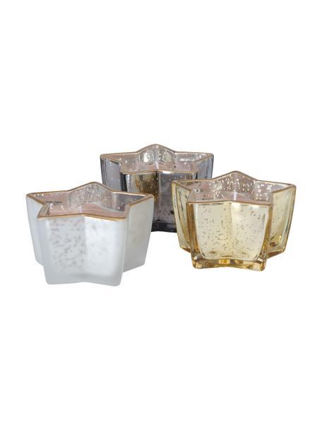 Decoratieve kaarsenset Delisa Ø 10 cm, 3 stuks, Houder: glas, Multicolour, 10 x 6 cm