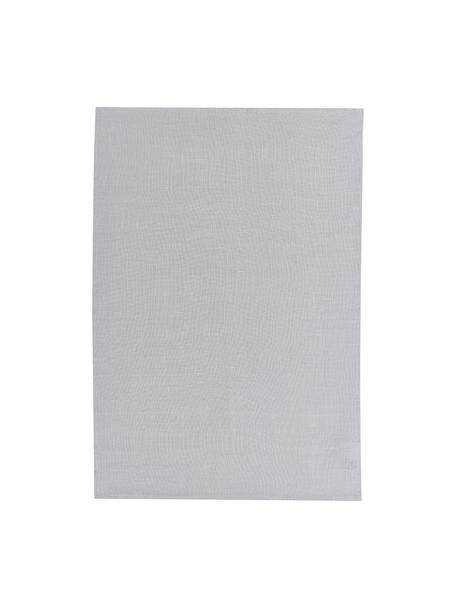 Paño de cocina de lino Heddie, 100%lino, Gris claro, An 50 x L 70 cm