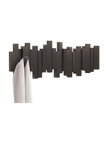 Garderobenhaken Sticks, Kunststoff, Espresso, 48 x 18 cm