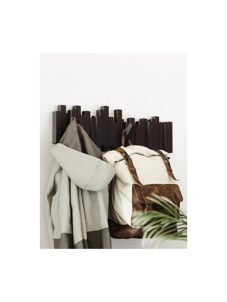 Wieszak ścienny Sticks, Tworzywo sztuczne, Ciemnybrązowy, S 48 x W 18 cm