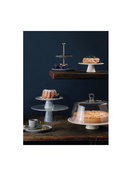 Piatto torta in gres beige Saisons, Ø 22 cm, Gres, Beige, Ø 22 x Alt. 7 cm
