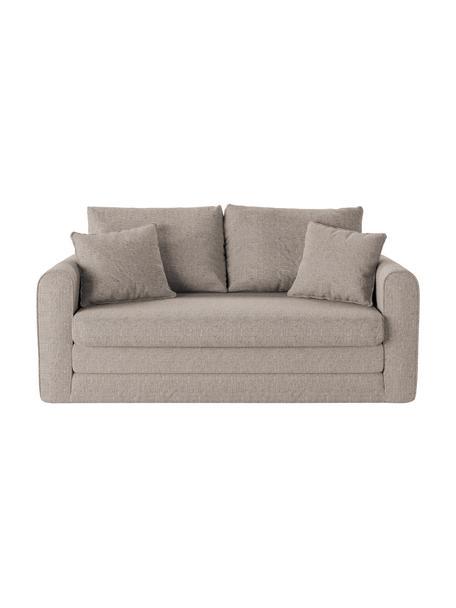 Divano letto 2 posti in tessuto grigio chiaro Lido, Grigio chiaro, Larg. 158 x Alt. 69 cm