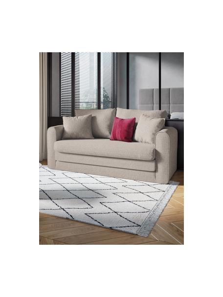 Sofá cama Lido (2plazas), Tapizado: poliesto con tacto de lin, Estructura: madera de pino maciza, ag, Patas: plástico, Gris claro, An 158 x F 69 cm
