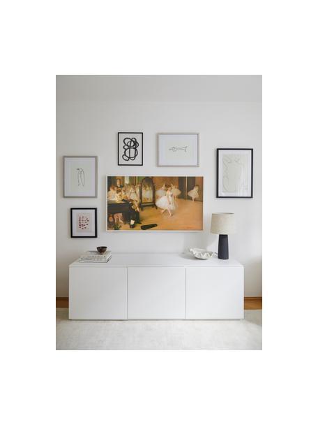Gerahmter Digitaldruck Picasso's Dackel, Bild: Digitaldruck, Rahmen: Kunststoff, Antik-Finish, Front: Glas, Bild: Schwarz, Weiss Rahmen: Silberfarben, 50 x 40 cm