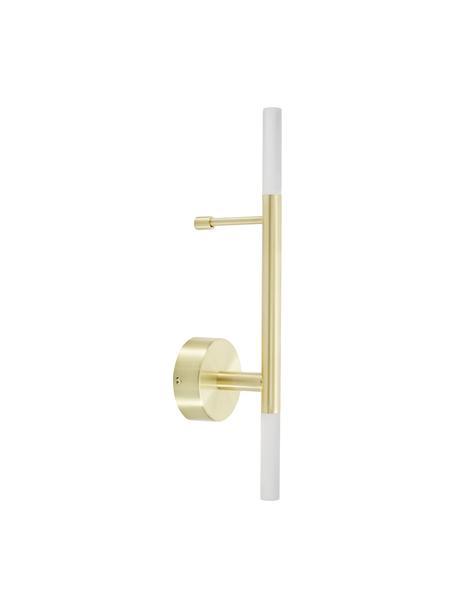 Applique a LED dorato Gratia, Struttura: metallo zincato, Paralume: vetro acrilico, Oro, Larg. 10 x Alt. 45 cm