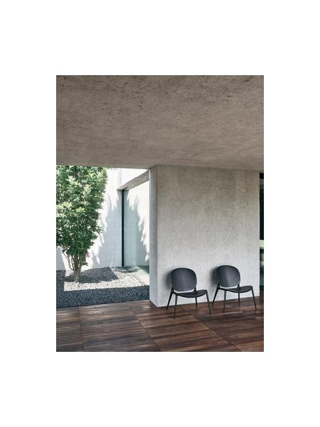 Loungefauteuil Be Bop van kunststof, Gemodificeerd polypropyleen, Zwart, B 69  x D 62 cm