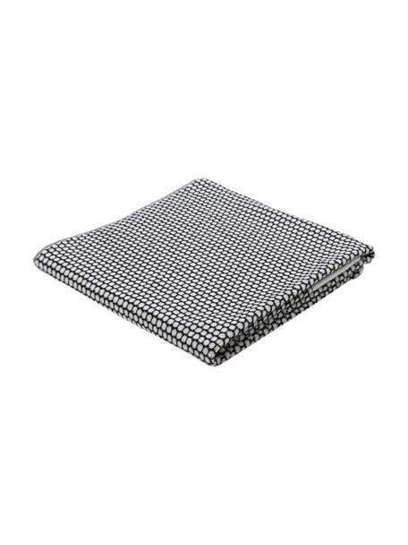 Gepunktetes Handtuch Grid, verschiedene Größen, Schwarz, Gebrochenes Weiß, Duschtuch