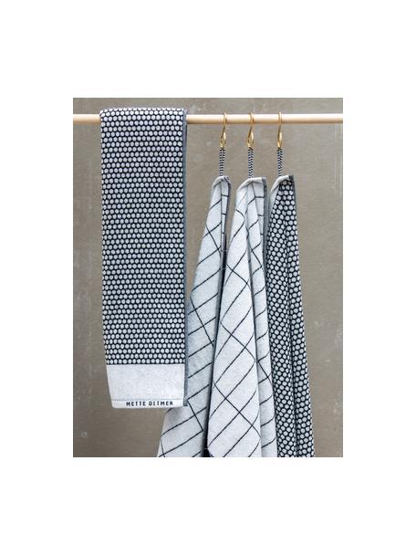Ręcznik Grid, różne rozmiary, Czarny, złamana biel, Ręcznik kąpielowy