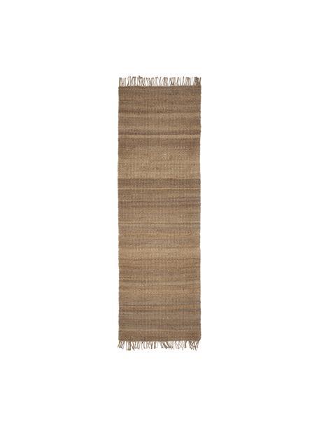 Ręcznie wykonany chodnik z juty z frędzlami Naturals, 100% juta, Juta, S 80 x D 250 cm