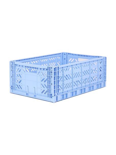 Krat Baby Blue, stapelbaar, groot, Gerecycled kunststof, Blauw, 60 x 22 cm