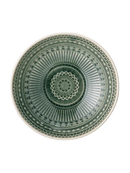 Bol artesanal Rani, estilo marroquí, Gres, Verde, Ø 18 cm