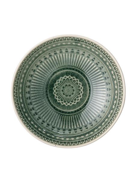 Ręcznie wykonana miska Rani Ø 18 cm, Kamionka, Zielony, Ø 18 cm