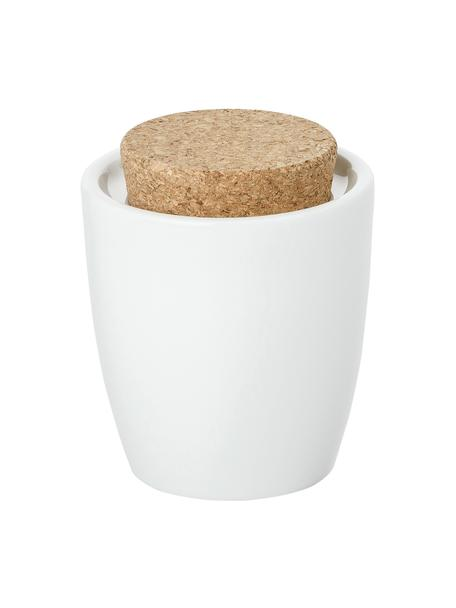 Azucarero de porcenala y corcho Artesano Original, Porcelana, corcho, Blanco, 300 ml