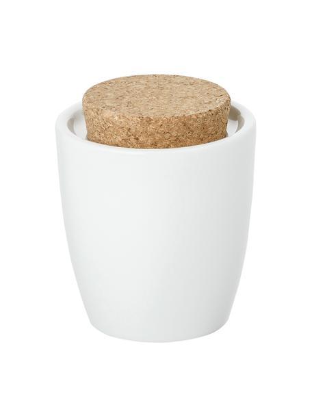 Suikerpot Artesano Original van porselein met kurken deksel, Porselein, kurk, Wit, 300 ml