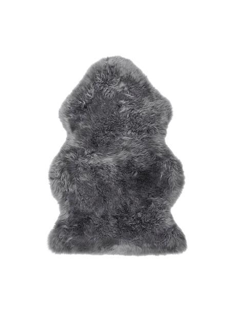 Skóra owcza Oslo, gładka, Ciemny szary, S 60 x D 90 cm
