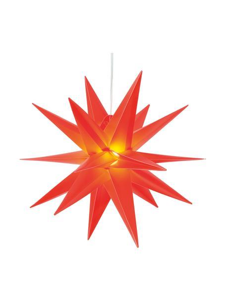 Lampa w kształcie gwiazdy LED zasilana na baterie Zing, Tworzywo sztuczne, Czerwony, S 40 x W 40 cm