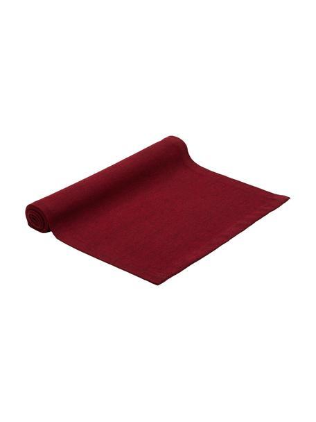 Bieżnik z mieszanki bawełny Riva, 55%bawełna, 45%poliester, Czerwony, S 40 x D 150 cm