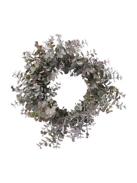 Eukalyptuskranz Eurelia Ø 28 cm, Kunststoff, Pudergrün, Ø 28 x H 8 cm
