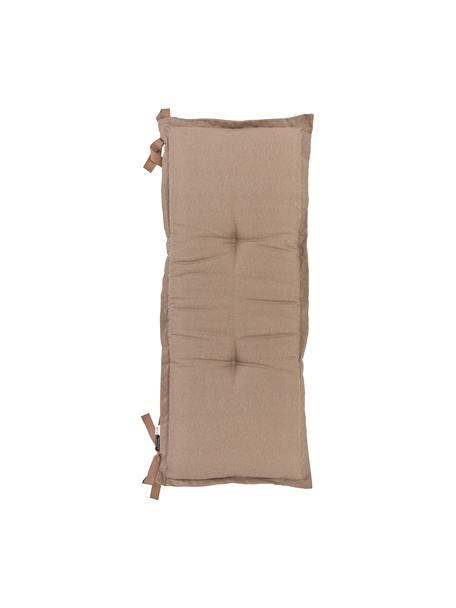 Einfarbige Bankauflage Panama in Taupe, Bezug: 50% Baumwolle, 45% Polyes, Taupe, 48 x 120 cm
