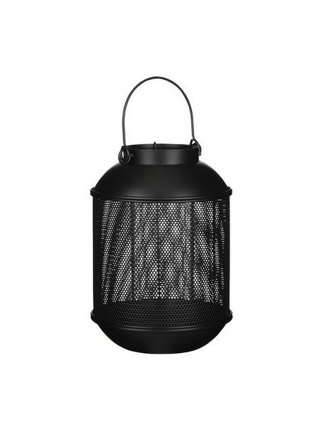 Lanterna Borneo, Metallo rivestito, Nero, Ø 16 x Alt. 23 cm