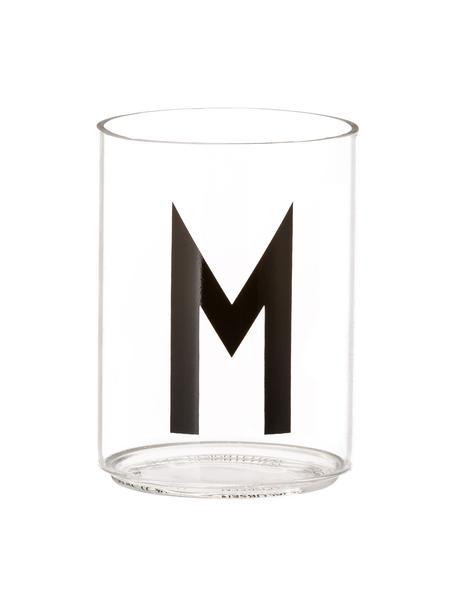 Szklanka Personal (warianty od A do Z), Szkło borokrzemowe, Transparentny, czarny, Szklanka do wody M
