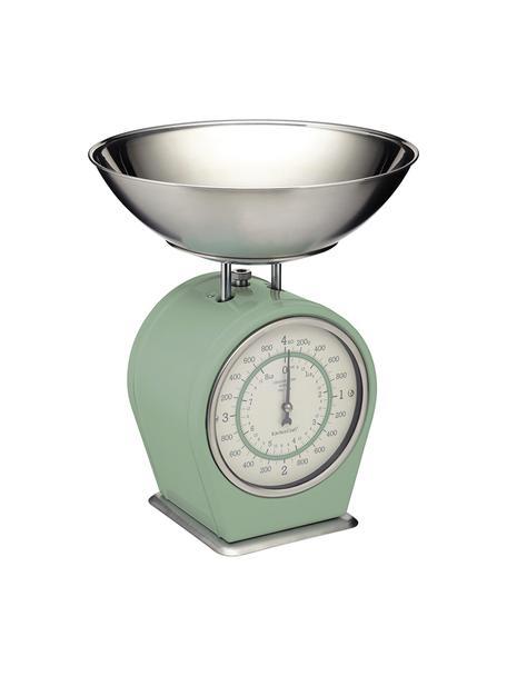 Küchenwaage Nostalgia, Edelstahl, teilweise beschichtet, Grün, 25 x 30 cm
