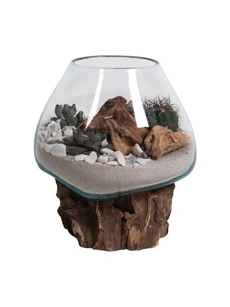 Pieza decorativa Waterdrop, Recipiente: vidrio, Marrón, transparente, Ø 20 x Al 20 cm