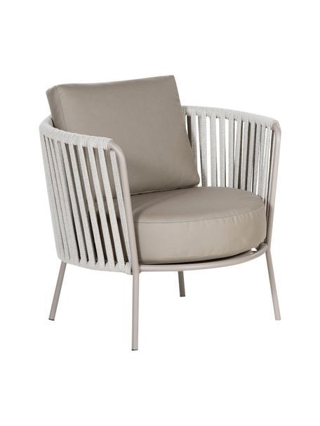 Outdoor loungefauteuil  Sunderland met zitkussen, Poten: galvanisch verzink en gep, Bekleding: polyacryl, Taupe, lichttaupe, B 73 x D 74 cm